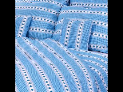 Luxusné obliečky Barunka modrá 140x200/70x90 cm