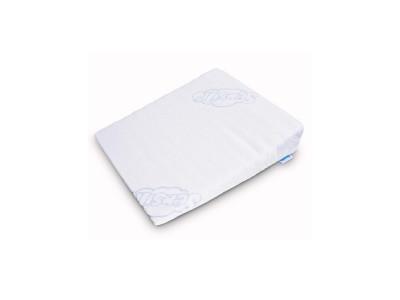 Sensillo Dojčenský vankúš do kočíka - klin  biely 30x37 cm